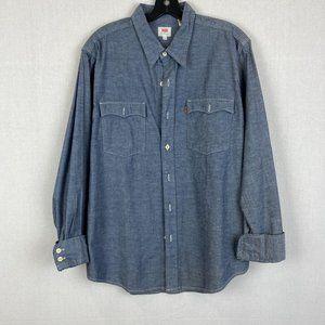 LEVI'S Men Denim Shirt Orange Tab